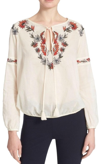 Preload https://item4.tradesy.com/images/tory-burch-peasant-cotton-blouse-size-4-s-24009558-0-3.jpg?width=400&height=650