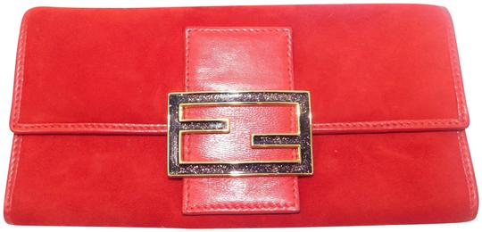 Preload https://item2.tradesy.com/images/fendi-sparkle-wallet-red-suede-leather-baguette-24009561-0-2.jpg?width=440&height=440