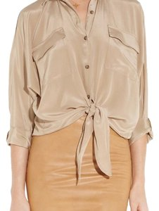 Kelly Bergin Button Down Shirt Nude