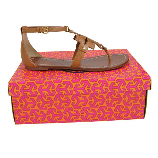 Tory Burch Tumbled Leather 8.5 Royal Tan Sandals