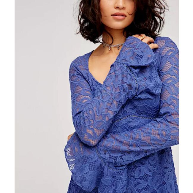 Free People Fp Swingy Tunic Long Bell Sleeve Wedding Guest Boho Party Lace Embroidery Dress
