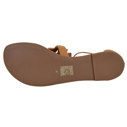 Tory Burch Tumbled Leather 9 Royal Tan Sandals