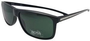 Hugo Boss New HUGO BOSS Sunglasses 0875/S YPP85 Black Silver Frame w/ Green Grey
