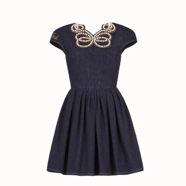 Fendi short dress blue on Tradesy