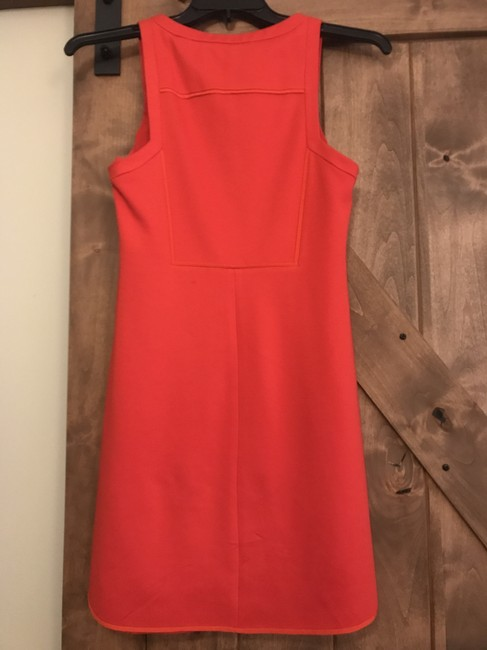 Trina Turk short dress Orange Fall Shift Zipper on Tradesy