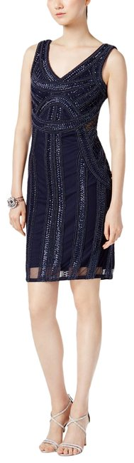 Preload https://item2.tradesy.com/images/adrianna-papell-navy-sequin-sheath-12p-mid-length-formal-dress-size-petite-12-l-24009616-0-1.jpg?width=400&height=650