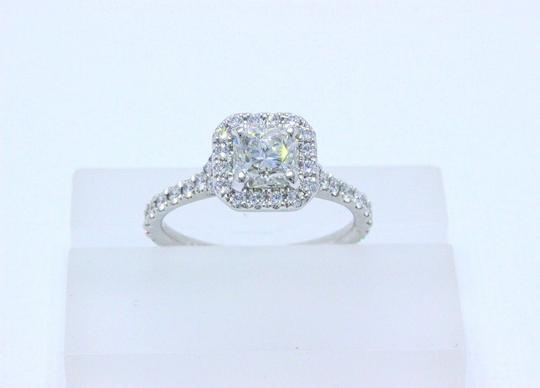Hearts on Fire G Platinum Diamond Transcend Dream Cut 1.10 Tcw Engagement Ring