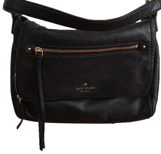 Preload https://item1.tradesy.com/images/kate-spade-purse-black-with-stripe-white-on-the-inside-and-gold-zippers-leather-shoulder-bag-24009635-0-1.jpg?width=440&height=440
