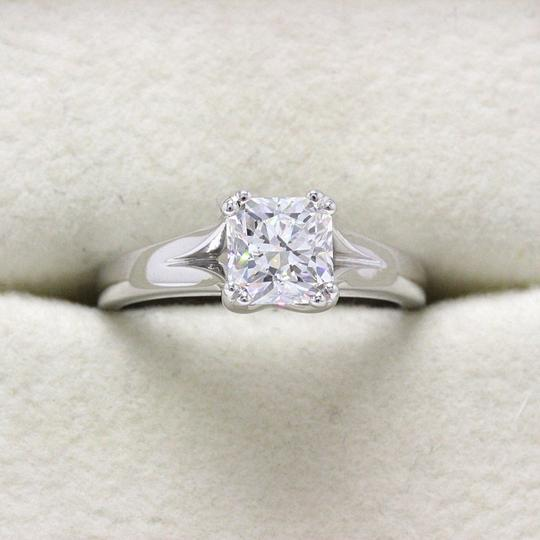 Hearts on Fire D Platinum Diamond Dream Square Cut 1.13cts Si1 Engagement Ring