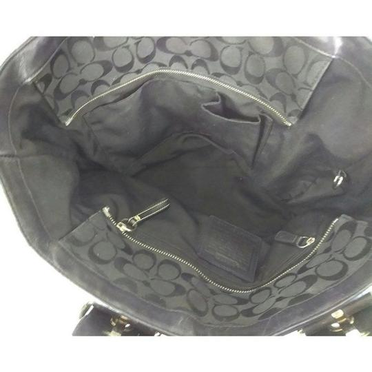 Coach Large Canvas Tote in Black