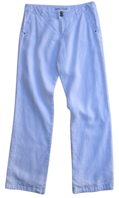 Preload https://item5.tradesy.com/images/white-french-label-linen-trouser-3040-ml-relaxed-fit-pants-size-8-m-29-30-24009654-0-1.jpg?width=400&height=650