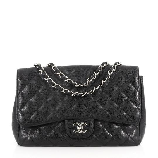 Preload https://item2.tradesy.com/images/chanel-classic-flap-classic-single-quilted-caviar-jumbo-black-leather-cross-body-bag-24009656-0-0.jpg?width=440&height=440
