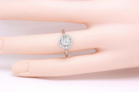 I Old Cut Diamond 1.20 Tcw Vs Set In 18k White Gold Engagement Ring