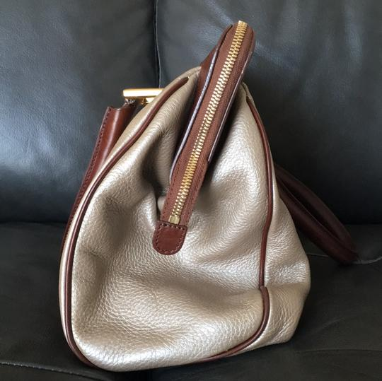 Barbara Bui Satchel in light gold and brown