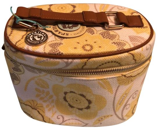 Preload https://item2.tradesy.com/images/spartina-449-yellow-print-with-brown-trim-floral-cosmetic-bag-24009706-0-2.jpg?width=440&height=440