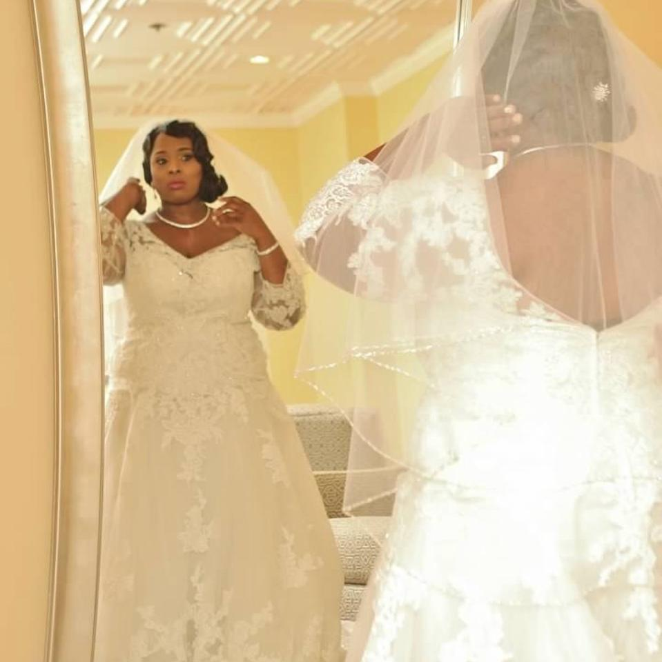 Casablanca Ivory Lace And Beads Gown Formal Wedding Dress