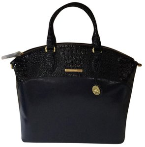 Brahmin Satchel in Navy Quincy