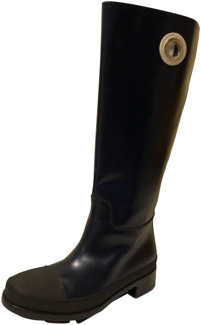 Item - Black Navy New River Leather Knee High Water Proof Boots/Booties Size EU 36 (Approx. US 6) Regular (M, B)