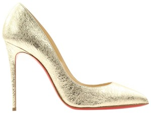 Christian Louboutin Classic 100mm Pigalle Follies Gold Pumps