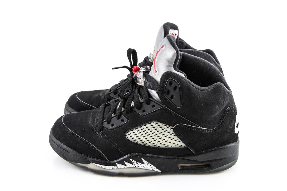 brand new b567d c656d Nike Black Air Jordan Metallic 5 Retro Shoes 34% off retail