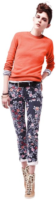 Item - Floral Distressed High Waist Skinny Jeans Size 2 (XS, 26)