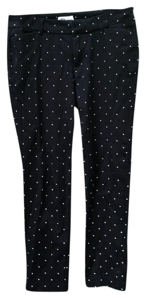 a394e217d6d55 Old Navy Black With White Polka Dots Pants Size 8 (M
