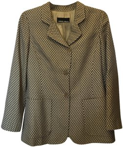 Giorgio Armani Cashmere Silk Blend Long Sleeved Lined New With Tags Brown and Beige Blazer