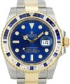Rolex Rolex Submariner Date 116613Blue Dial Diamond/Sapphire W/ Box & Papers