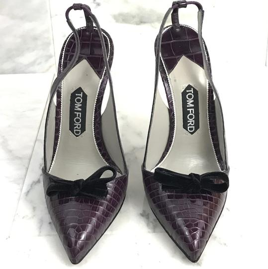 Tom Ford Vintage Alligator Exotic 130mm Purple Pumps Image 1