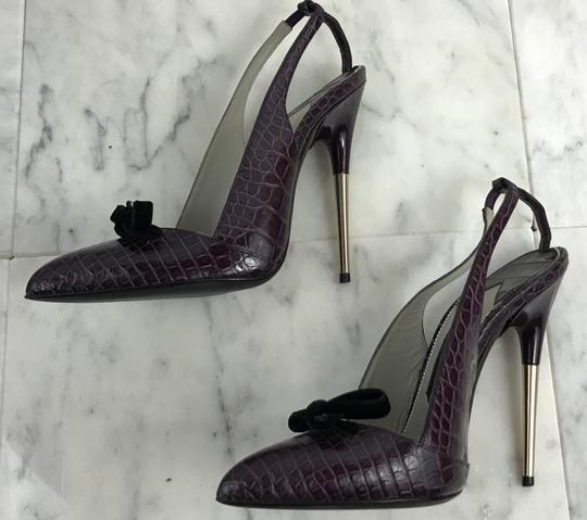 Tom Ford Vintage Alligator Exotic 130mm Purple Pumps Image 2
