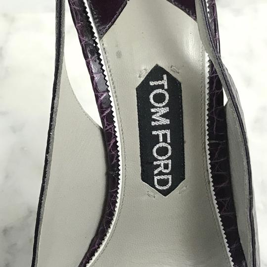 Tom Ford Vintage Alligator Exotic 130mm Purple Pumps Image 8