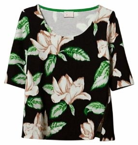 Anthropologie Side Zipper Cropped Mix + Match Versatile Dress Up Or Down T Shirt Multi