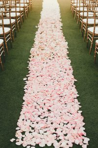 Blush Pink 4000 Silk Flower Petals Wholesale Aisle Fake Bulk Ceremony Decoration