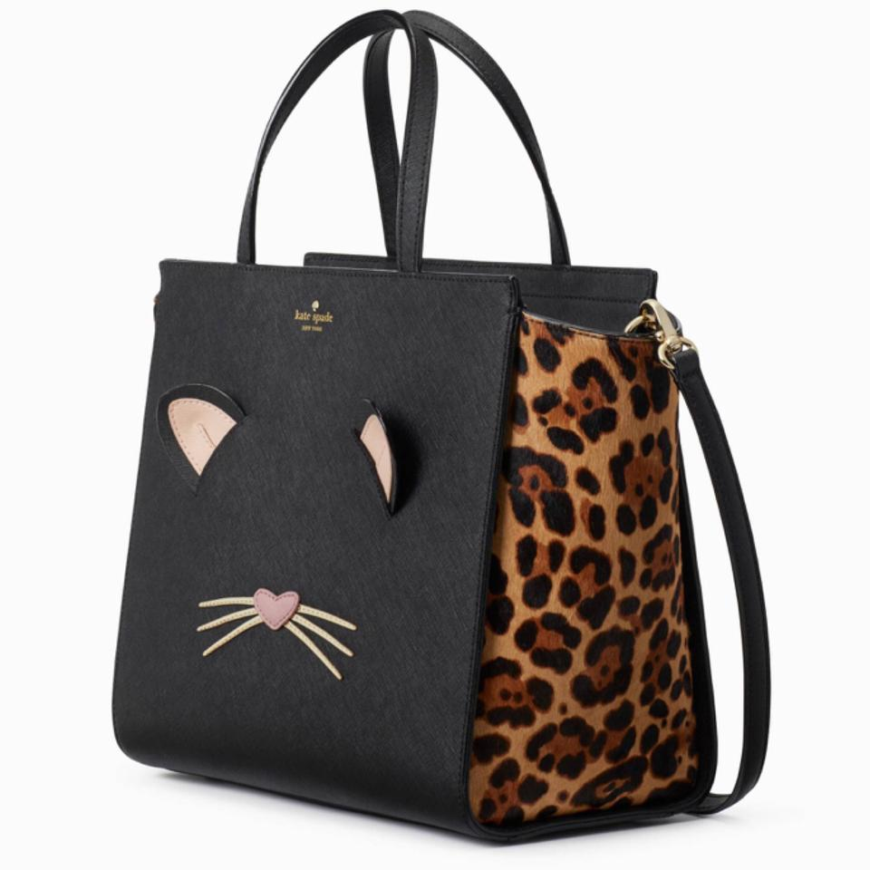 Kate Spade Satchel In Black Leopard 12345
