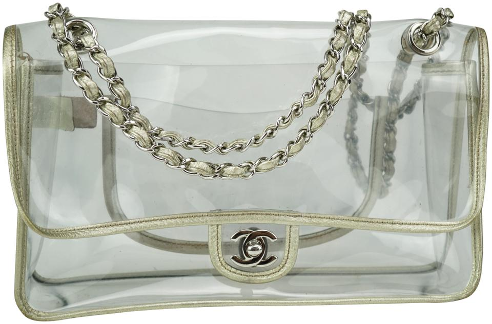 dd87529eb86f Chanel Classic Flap Naked Vintage Clear Transparent and Champagne ...