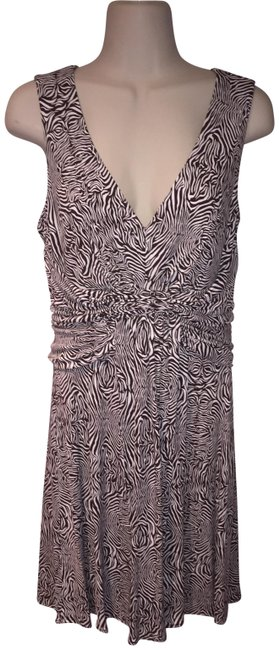 Item - Brown and White Issa London Limited Collection Short Casual Dress Size 6 (S)