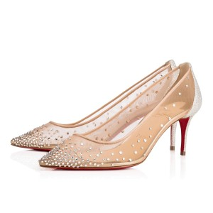 Christian Louboutin Stiletto Pigalle Strass Crystal Follies nude Pumps
