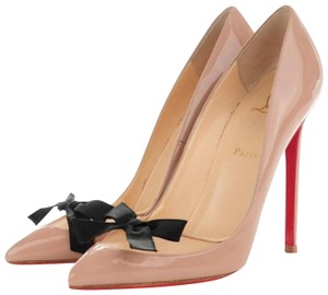 Christian Louboutin Red Bottom Love Me Bow Rare Beige Nude Pumps