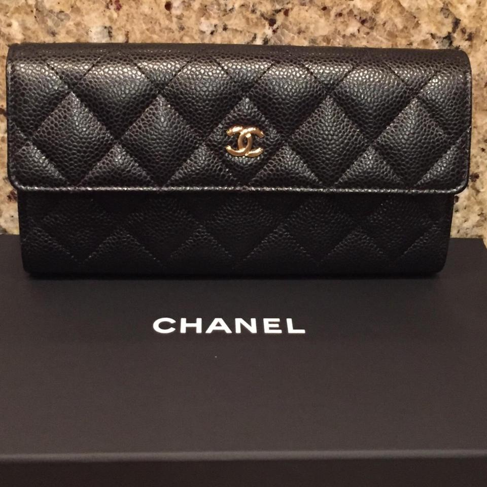 31468f86af79 Chanel Black Caviar Classic Flap Long New Wallet - Tradesy