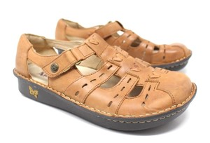 Alegria by PG Lite Leather Fisherman Tan Sandals