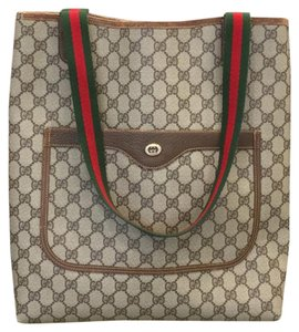 52dbb39a7589 Gucci Monogram Laptop Bags Weekend Travel Bags Webby Tote in Brown