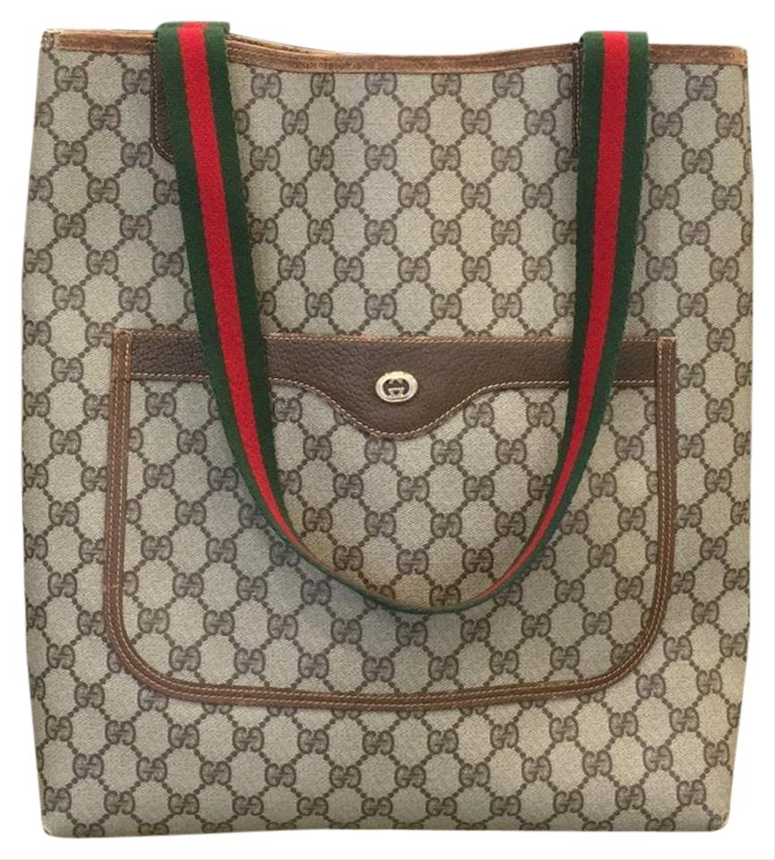 f8c7bb528 Gucci Monogram Laptop Bags Weekend Travel Bags Webby Tote in Brown Image 0  ...