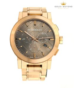 Burberry Burberry Rose Gold Tone Bu9353 Taupe Chronograph Watch