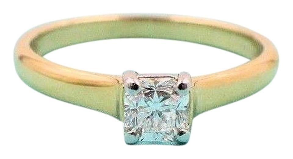 deea98ff9 Tiffany & Co. D Vvs1 Lucida Diamond Engagement 0.41 18k Yellow Gold Papers  Ring