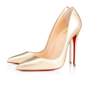 Christian Louboutin Sokate Kate Pigalle Stiletto Classic gold Pumps