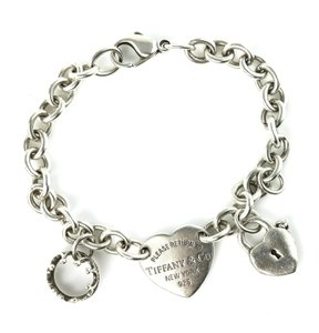 Tiffany & Co. Tiffany & Co Heart Tag with Crown and Heart Lock Charms Chain Link