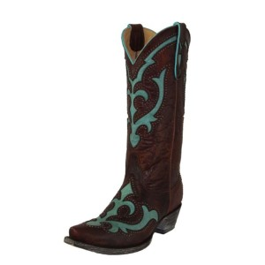 Old Gringo Womens Brown Green Boots