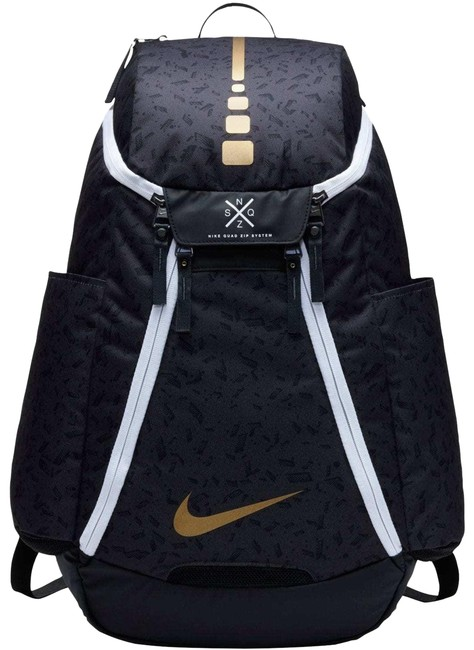 Item - Elite Max Air 2.0 Graphic Black/ Gold Polyester Backpack