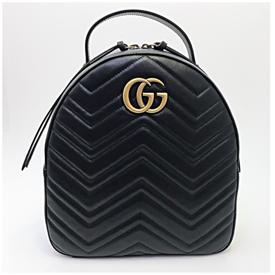 8a8cb2c6e Gucci Marmont Sold Out Black Leather Backpack - Tradesy