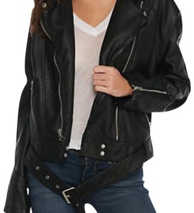 Free People black Leather Jacket